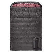 TETON Sports Mammoth 中号双人睡袋;温暖舒适;双睡袋非常适合家庭露营;含压缩袋 94-Inch X 62-Inch 20001106