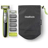 Philips 飛利浦 OneBlade Face + Body QP2630 / 30,帶2個刀片(1 x 面部,1 x 身體),4 個修剪附件和2 個身體配件