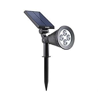 lumisky spiky W34太阳能投影机 spotlight 4个 LED 灯防水户外二合一嵌入式灯塑料1W 白色29x 9.5x 34cm