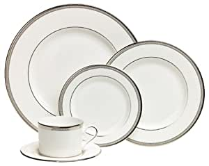 Lenox Murray Hill Platinum-Banded Bone China 5-Piece Place Setting, Service for 1