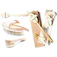 3 件套干式刷子套装适用于Cellulite 按摩,干体刷