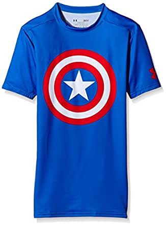 Under Armour Men's Alter Ego Short Sleeve Compression Shirt Royal/Red/Captain America XX-L