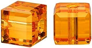 施华洛世奇 诞生石 立方体 水晶 珠子 耳环 手链 脚链 项链 钥匙链 饰品 制作用品 黄玉 6mm