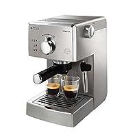 PHILIPS 飞利浦 Saeco 家用意式半自动咖啡机 HD8323/25 银(增压滤碗固定架/ 15Bar理想泵压/ 经典蒸汽蒸奶棒/ 金属暖杯座)