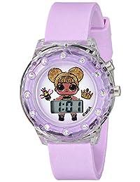 L.O.L. 惊喜! 女孩石英塑料手表,颜色:紫色(型号:LOL4044)