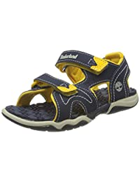 Timberland 2494A Boys Adventure Seeker 2-Strap Sandal Navy W/Yellow-5.5M