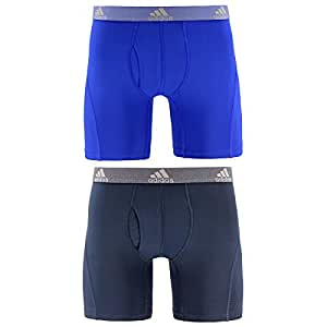 adidas Men's Relaxed Performance Climalite Boxer Brief Underwear (2 Pack) Bold Blue/Urban Sky X大码