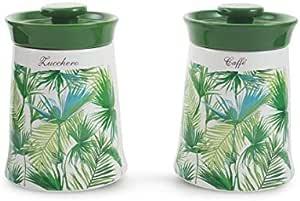 Galileo Casa 2424020 丛林 2 只装糖罐/咖啡罐,绿色