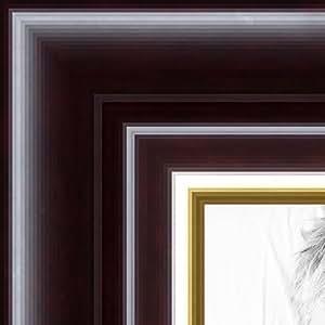 ArtToFrames 12.70x50.80 cm / 12.70cm x 50.80 cm 相框深樱桃带金色唇印 .3.81 cm 宽 (2WOMMXS268253)