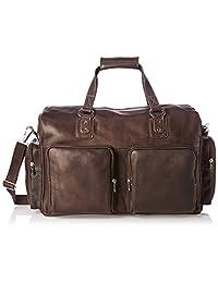 皮尔皮革多口袋皮革手提包