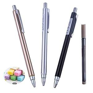 5 件复古绘制学校金属桶机械铅笔,带果冻橡皮擦和填充礼品套装 0.7mm A 套装