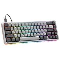 Drop ALT 高调机械键盘 — 65%(67 键)游戏键盘、热插拔开关、可编程宏碁、RGB LED 背光、USB-C、双射PBT、铝制框架(光环真实、灰色)
