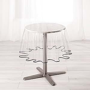 Ligne Decor 180 cm 普通水晶 15/100E 花园圣经圆形桌布,*煤色