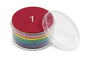 Learning Resources 软泡沫彩虹色磁性分数圆