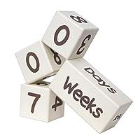 Baby Milestone 年龄块   天然实木   数天、数月、几年   新生儿中性款(男孩或女孩)  照片道具   来自 Life Essentials 的婴儿淋浴性别展示