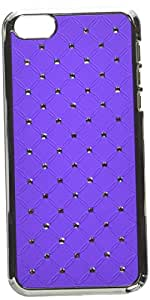 Eagle Cell Chrome Spot Diamond Case for iPhone 5/5S - Retail Packaging - Purple Pattern