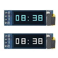 "OLED 液晶显示屏 0.91"" 128x32 IIC I2C 串行 DIY 模块 适用于 Arduino Pic RPI 白色/蓝色"