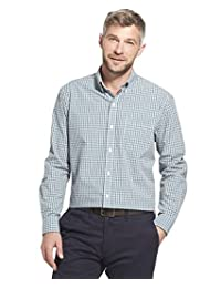Arrow 男式长袖格子 Hamilton 衬衫