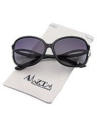 amztm 经典时尚驾驶墨镜超大偏光太阳镜适用于女式