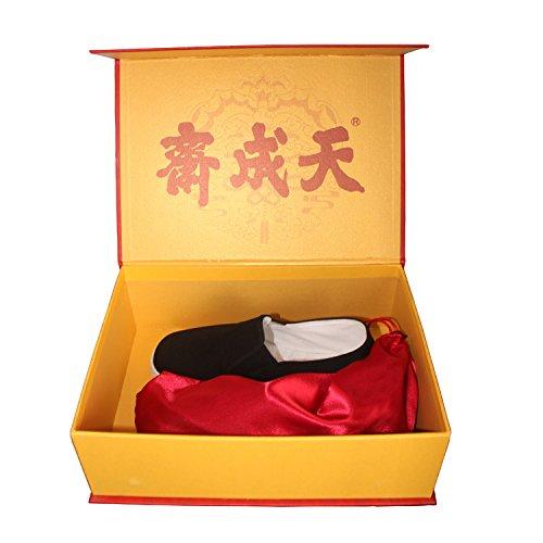 专柜正品天成斋老北京布鞋 精品手工千层底礼盒包装男布鞋