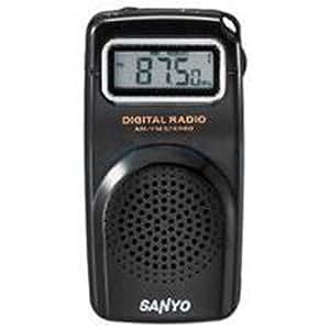 三洋 SANYO RP-D201 袖珍式数码收音机(黑色 数码调谐 接收校园广播 自动记忆存储频道 标配耳机)