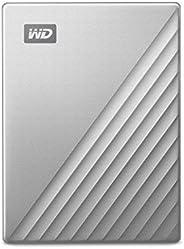 Western Digital 4TB My Passport Ultra for Mac 银色 便携式外部硬盘驱动器,USB-C-WDBPMV0040BSL-WESN