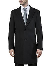 Adam Baker 男士现代修身单排扣奢华羊绒手感 3/4 长外套