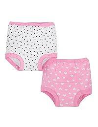 Gerber 女宝宝训练裤 4 件套,粉色, 个月