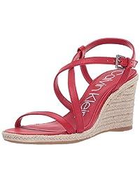 Calvin Klein 女士 Bellemine Espadrille 坡跟凉鞋