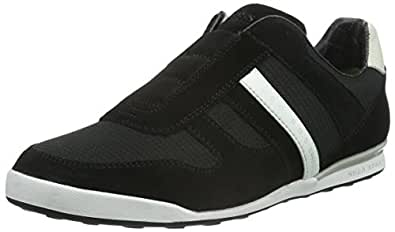 BOSS Green Arkansas_slon_mxpq 10191377 01, Men's Low-Top Sneakers Black - Schwarz (Black 001) 12 UK