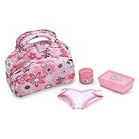 Melissa & Doug Mine TO LOVE 娃娃尿布尿布更换套装带包,湿巾,配件