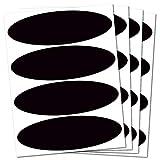 B REFLECTIVE,4个复古反光贴纸套件,夜间可见*,摩托车头盔/踏板车/自行车/婴儿车/行李/玩具,8.5 x 2.7厘米,黑色 黑色 BRhelmet2black4x4