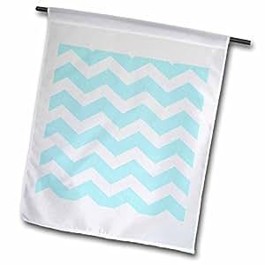 inspirationzstore V 形图案–浅蓝色和白色锯齿形图案 PASTEL 淡蓝色 zigzags–旗帜 12 x 18 inch Garden Flag