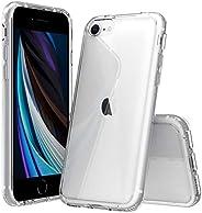JT Berlin Pankow-Clear 保护套适用于 Apple iPhone SE (2020) / 8/7 手机壳透明(减震TPU框架,防刮丙烯酸玻璃背面,防指纹)
