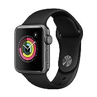 Apple Watch Series 3 智能手表 42mm GPS 深空灰色铝金属表壳 黑色运动型表带 MQL12CH/A
