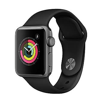 Apple Watch Series 3 智能手表 38mm GPS 深空灰色铝金属表壳 黑色运动型表带 MQKV2CH/A