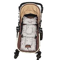DODO NICI 推车内衬垫,双面棉质垫通用婴儿背带,厚垫,防滑 Grey color star