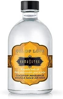 爱油椰子菠萝 94ml Kamasutra '可爱身体油'赠品天然混合按摩油'在木料中裸露'