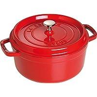 Staub 琺瑯鑄鐵鍋 搪瓷湯鍋鑄鐵燉鍋 24cm 櫻桃紅 經典系列