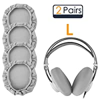 Linkidea 耳垫套,适用于 AKG K712、K702、K701、K550、K240、K553、K99、K601、K612Pro、K872、K121 耳机耳罩/可拉伸、可清洗卫生耳垫保护(灰色,2 对)