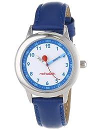 Red Balloon 儿童 W000195 蓝色皮革表带不锈钢时间教师手表