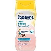 Coppertone 水寶寶 Pure & Simple SPF 50 寶寶防曬乳液,無淚配方,防水,天然植物,廣譜UVA/UVB保護,6盎司/177毫升