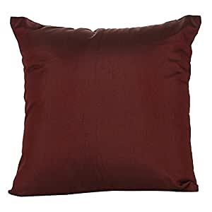 The White Petals 人造丝纯色枕套 2 件装 *红色 26x26 inch COMIN18JU052830