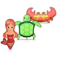 Navaris 潜水池玩具套装 - 3 件套水生动物玩具游泳潜水 - 水下潜水游戏儿童 3 岁以上 2 件套