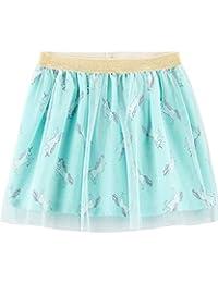 Carter's 卡特女童独角兽薄纱蓬蓬裙薄荷绿松石色弹性金色闪光腰带 6 个月