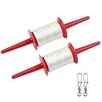 Crefotu 风筝线轴 - 500 英尺 - 儿童/青少年风筝线(红色)
