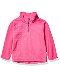 Columbia 女孩 Glacial Ii 抓绒印花半拉链 Pink Ice Drop Needle/Pink Ice X-Large