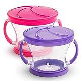 Munchkin 零食杯 2 件套 粉色/紫色