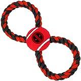 狗狗玩具绳网球死侍标志红色黑色红色黑色灰色绳