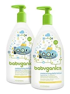 Babyganics Daily Lotion 不含香料 不含香料 17盎司(2包装) 34